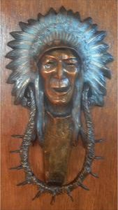 Indian Chief - Door Knocker by Gary Kerby