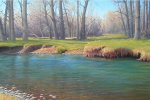 """Spring Trout Waters"" Rocky Mountain Trout Stream by Gary Kirby Original Oil 24"" x 30"""
