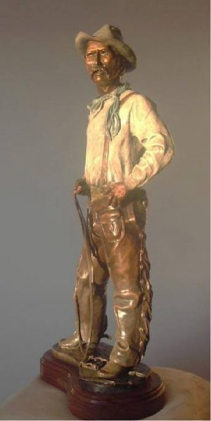 """That Damn Colt"" - Cowboy Sculpture by Gary Kerby - 27""H x 12""W x 6""D - Limited Edition 15"