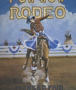 1991 Toppenish Rodeo and Pow Wow Poster by Gary Kerby