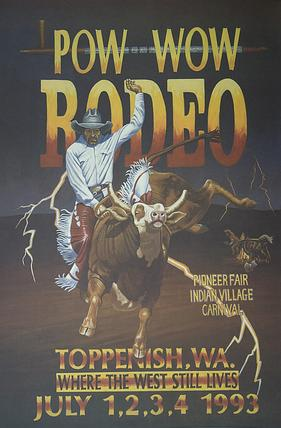 1993 Toppenish Rodeo and Pow Wow Poster by Gary Kerby