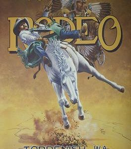 1995 Toppenish Rodeo and Pow Wow Poster by Gary Kerby