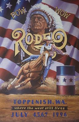 1996 Toppenish Rodeo and Pow Wow Poster by Gary Kerby