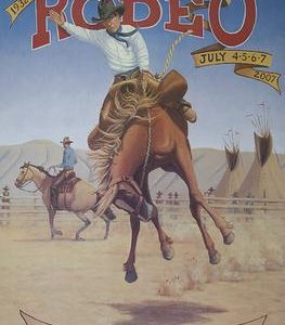Toppenish Rodeo & Pow Wow Poster July_2007 by Gary Kerby