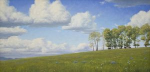 """Wild Montana Skies"" - Painting by Gary Kerby Original Oil 20"" x 40"""