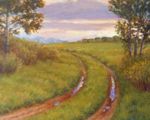 """After the Rain"" - 8"" x 10"" Original Oil Painting by Gary Kerby."