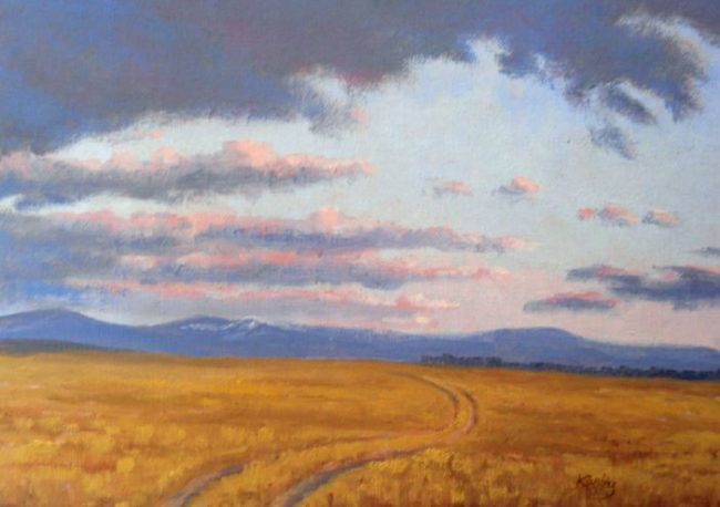 """""""Road to Ringling"""" - 9"""" x 12"""" - Original Oil Painting by Gary Kerby"""