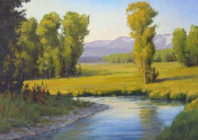 """The River"" - 9"" x 12"" - Oil by Gary Kerby"