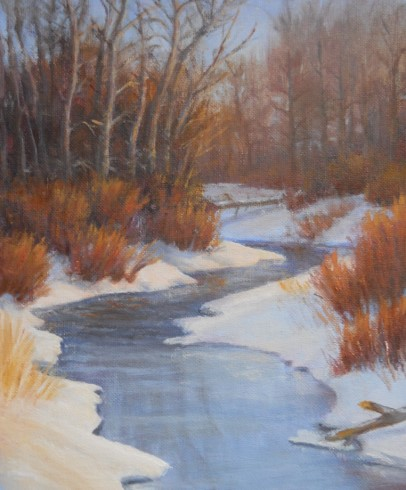 """""""Elk Creek"""" by Gary Kirby 9"""" x 12"""" Original oil on canvas A great little spot not far from town to fish or paint."""