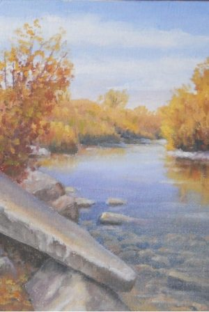 """Shields River"" by Gary Kirby Original 5"" x 7"" Oil on canvas"