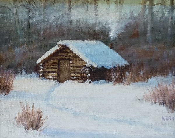 """Cabin on Horse Shoe Creek"" by Gary Kirby Canvas prints in 5"" x 7"" and 8"" x 10"" ""I built this cabin as a teenager and used it until the mid 90's until the move to Montana. There were a lot of memories there."""