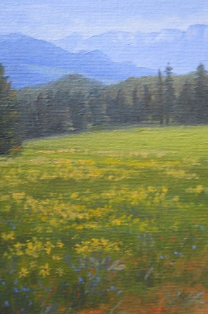 """A Summer Meadow"" by Gary Kirby 5"" x 7"" Original Oil Painting This is a beautiful spot while headed to Bozeman, Mt."