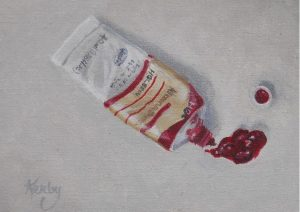"""Alizarin Crimson"" by Gary Kerby Original 5"" x 7"" Oil on Canvas ""It's fun to paint the things that you are surrounded by if for no other reason than to practice."""