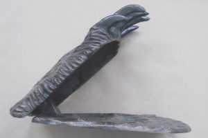 """""""Griz Claw Door Knocker"""" by Gary Kerby """"With all the fur and claws and the footprint on the striker plate ya gotta have this on your door."""""""
