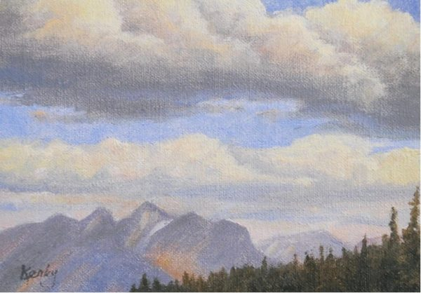 """""""Hunting Trip"""" by Gary Kerby Original 5"""" x 7"""" Oil on Canvas The view from our hunting camp."""