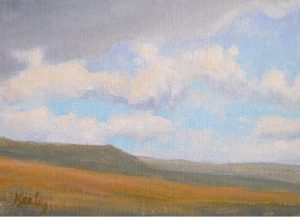"""Open Range"" by Gary Kerby Original 5"" x 7"" Oil on Canvas ""Not a home in sight. I may make this a large painting."""