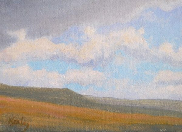 """""""Open Range"""" by Gary Kerby Original 5"""" x 7"""" Oil on Canvas """"Not a home in sight. I may make this a large painting."""""""