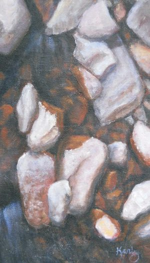 """In The Shadow"" by Gary Kerby Original 6"" x 9"" Oil on Canvas ""My #4 in the Rock series and having fun."""